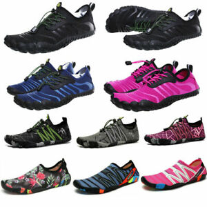 UK Water Shoes Mens Womens Beach Quick Dry Swim Barefoot Shoes Aqua Socks Surf