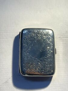 Antique Sterling Silver Cigarette Case Birmingham 1904 / 74g