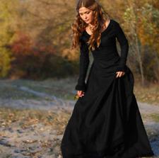 95980cfbda Vintage Women Medieval Victorian Long Sleeve Ball Gown Renaissance Gothic  Dress