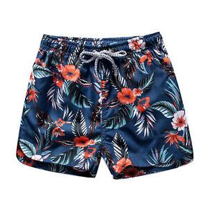 Men Sports Swimwear Short Pants Couple Summer Beach Surf Shorts Quick Dry Trunks