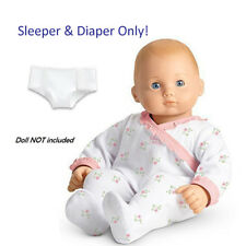 "American Girl BITTY BABY  COZY CUDDLY SLEEPER for 15"" Dolls Diaper Clothes NEW"