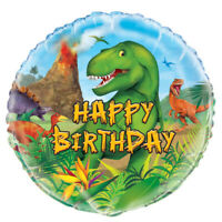 "18"" Foil Helium Balloon Dinosaur Happy Birthday Party Decoration Supplies Boys"