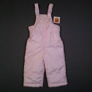 12mo Toddler Girls Size Snow Pants Bib Carter's Baby Pink Zip Up