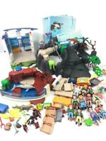 Playmobil Aquarium Sea World Dolphins Penguin Pool Habitat Zoo Lot Retired