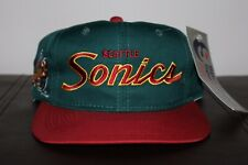 Vtg DS Seattle Supersonics Sonics Sports Specialties Snapback Hat NWT Starter