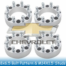 4Pc 8x6.5 to 8x6.5 Chevrolet C-3500 Pickup 2WD 88-00 Wheel Spacers 8 Lug 2 Inch
