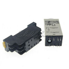 DC 12V 8 Pins DPDT H3Y-2 0-30 Minutes Delay Power On Timer Time Relay w Base