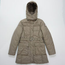 KINGSLAND Womens Beige Goose Down Riding Equestrian Long Hooded Jacket Size  S f48e2fae7e
