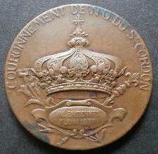 French medallion of notre dame saint cordon valenciennes 1897 - 35.2mm