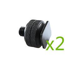 """2X Adaptateur vis 1/4"""" male griffe sabot double écrou pour support de Flash"""
