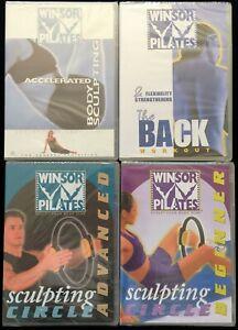Winsor Pilates 4 NEW DVDs Body Sculpting Circle Flexibility Strengthen Back