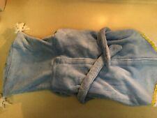 New listing Doggiduds Dog Fleece Bathrobe Blue with Hood Xs New