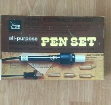 NSi All-Purpose Woodburning Pen Set Complete Excellent Condition