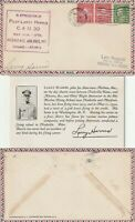 US 1930 INTERSTATE AIRLINES FLOWN & SIGNED COVER CHICAGO TO ATLANTA CAM 30