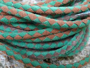 "Bolo Cords 36""  Army Green/Brown (pkg 12) faux suede suedette bolo cord 34-0854"