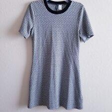 Divided H M Womens Black White Short Sleeve Dress Size 14 4cf378039