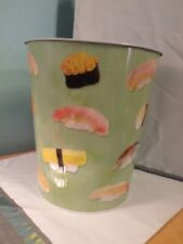 New Wasabi Green Sushi Metal Small Trash Can