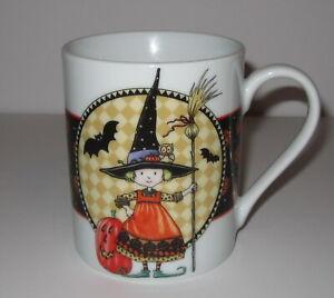 Mary Engelbreit Halloween Witch Coffee Tea Mug 2002 ME Enesco