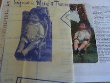 T11 PATRON POUPEE MICHEL BAIGNEUR MODES & TRAVAUX SHORT ET TUNIQUE JUIN 1976