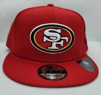 NEW ERA 9FIFTY SNAPBACK HAT.  NFL.  SAN FRANCISCO 49ERS.  RED