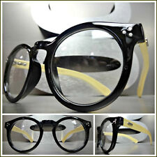 Men's CLASSIC VINTAGE RETRO Style Clear Lens EYE GLASSES Real Wood Wooden Frame