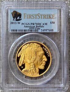 2012-W $50 (1 oz) Gold Buffalo Proof PCGS PR70 DCAM First Strike Coin