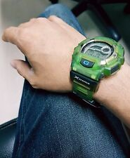 Vintage G-Shock DW-9500 Extreme Jelly Jade Green Thermometer Original Japan Made