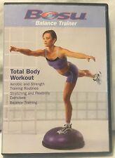 NEW Total Body Workout Bosu Balance ball Trainer DVD fitness stretch flexibility