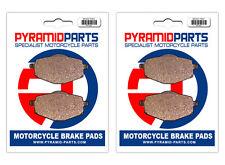 Yamaha YTZ 250 Tri Moto 85-86 Front & Rear Brake Pads Full Set (2 Pairs)