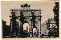 Ansichtskarte München - Blick auf das Siegestor - schwarz/weiß