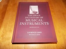 THE GROVE DICTIONARY MUSICAL INSTRUMENTS VOLUME 1 ONE Instrument Music Book NEW