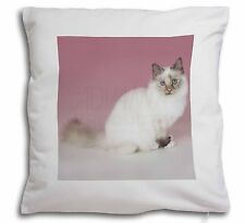 Tortie Birman Cat Soft Velvet Feel Cushion Cover With Inner Pillow, AC-94-CPW