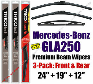 Wipers 3-Pack Premium Front and Rear 2015 Mercedes-Benz GLA250 19240/190/12I