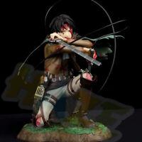 Attack on Titan Levi Ackerman Battle Ver. PVC Figura Modelo Juguetes 18cm