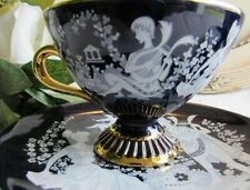 Gorgeous pair hand made cobalt blue Florentine decorative cups