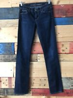 Citizens of Humanity Ava Low Rise Straight Leg Blue Dark Wash Women's Sz 27