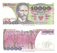 More details for poland 10000 zlotych 1988 p-151b banknotes unc