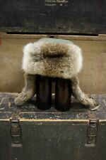 WW2 German Winter Rabbit Fur Cap Stalingrad Eastern Front European Reproduction