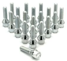 20x M12 x 1.5 40mm Extended Wheel Spacer Bolts, Tapered Seat, 17mm Hex, BMW E82