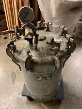 10 Gallon Binks 83 5301 Paint Pressure Tank Pot With Pressure Gage