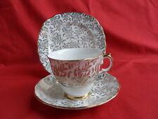 Crown Regent Gold Leaf Chintz Ballet, Tea Trio (Teacup, Saucer & Teaplate)