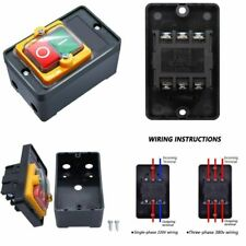 Waterproof Outdoor Push Button Switch On Off 380v Stop Start Single Phase Home