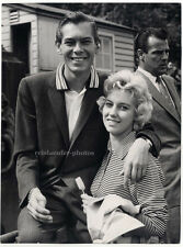 Johnnie Ray with his girlfriend in London, Original Photograph 1957