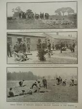 1916 TRAINING BOMB THROWING MACHINE GUNNERY 3/19TH LONDON 8TH LEICESTERS WWI WW1