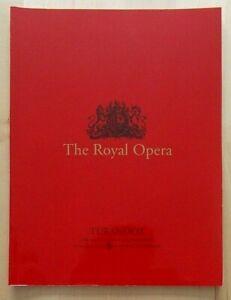 Turandot programme Royal Opera House 6 January 1997 Sharon Sweet Eddie Wade