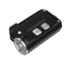Nitecore Tini - Torcia in metallo Portachiave con Caricatore USB Nero