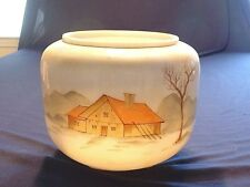 Antique Mt. Washington / Smith Brothers Hand Painted Hanging Oil Lamp Shade
