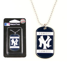 NEW YORK YANKEES MLB Dog Tag Style Necklace w/ Chain - FREE U.S. Shipping !