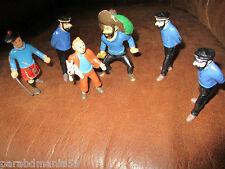 Vente Hergé-Tintin-Lot anciennes figurines,tintin,Haddock-Plastoy(1994)