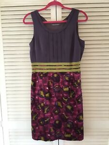 BODEN LIMITED EDITION Silk Stretch Lined Dress Size 12.